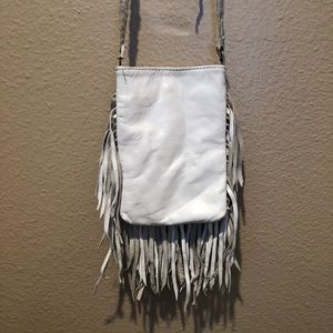 Handbags - ✨White Fringe Crossbody Bag